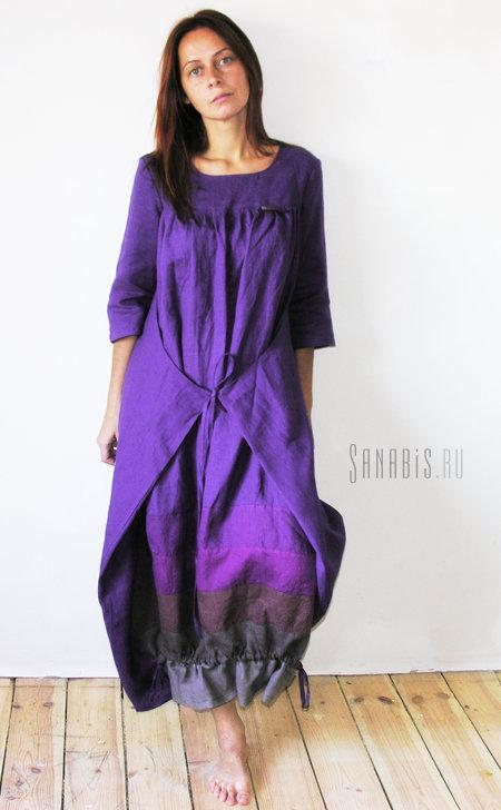 Платье-трансформер из льна