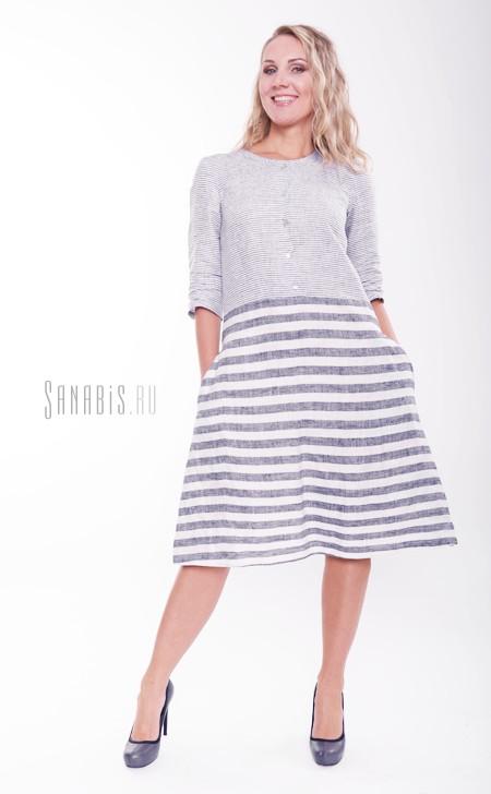 Льняное платье-пижама