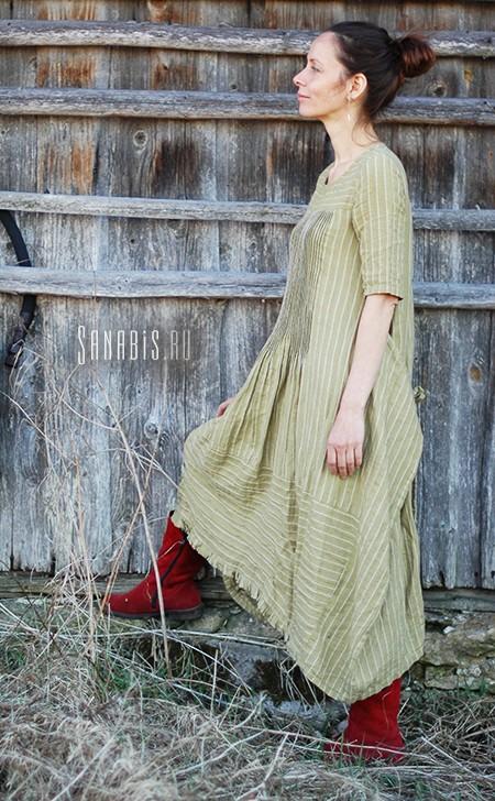 Льняное платье трансформер