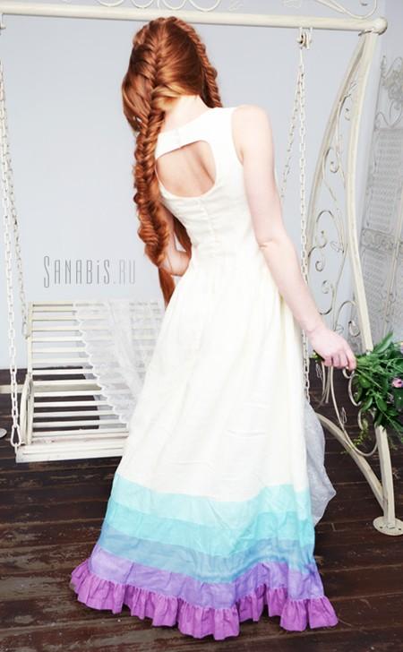 Свадебное платье из льна