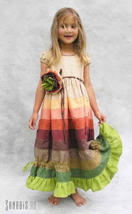 платье из льна для девочки