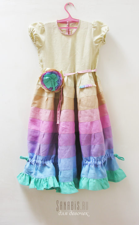 Льняное платье для девочки