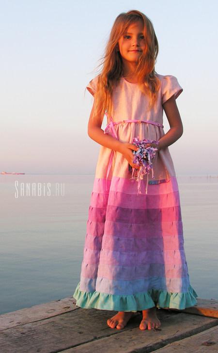 Нежное льняное платье для девочки